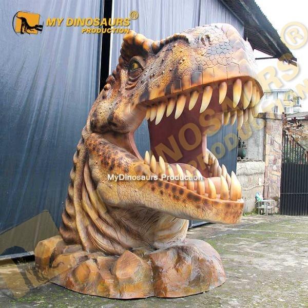 dinosaur head statue 3