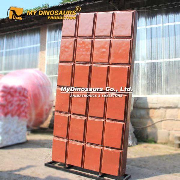 Fiberglass chocolate statue