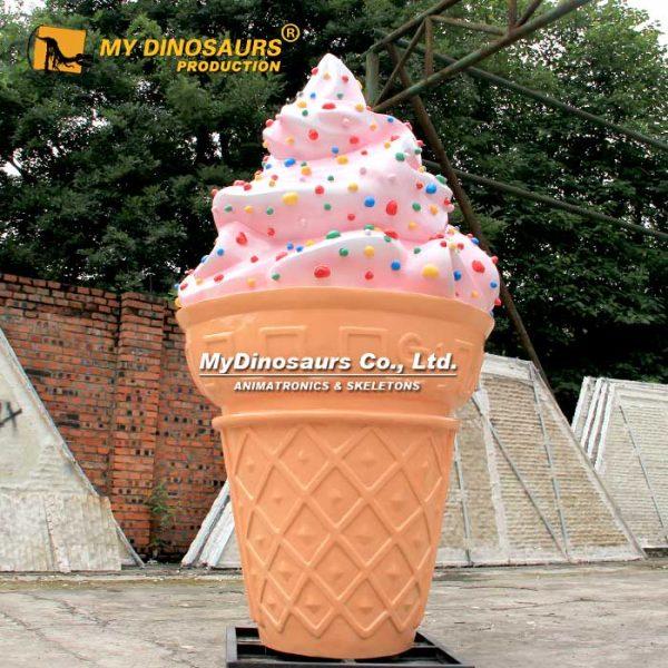 Large ice cream sculpture
