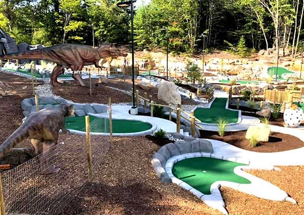 Encounter Dinosaurs in Mini Golf Course