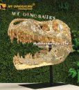 Gold t rex skull 2