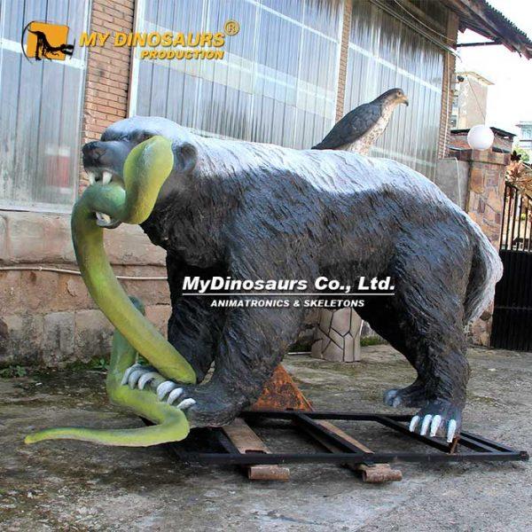 Honey Badger and snake statue 1