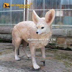 Life size fox sculpture